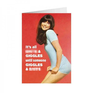 Funny Card 'It's All Sh*ts & Giggles'