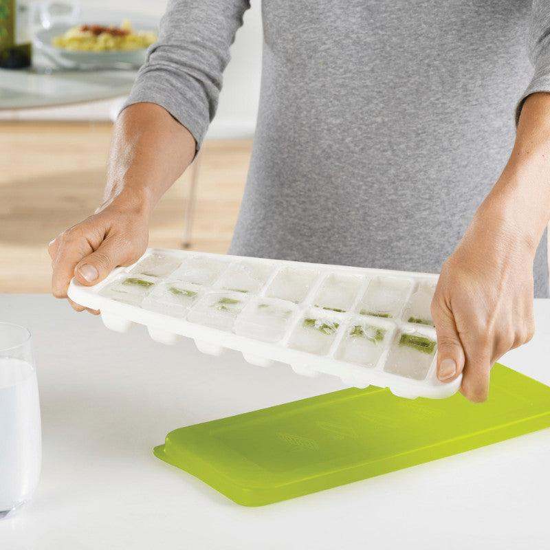 Joseph Joseph QuickSnap Plus Green & White Ice Cube Tray