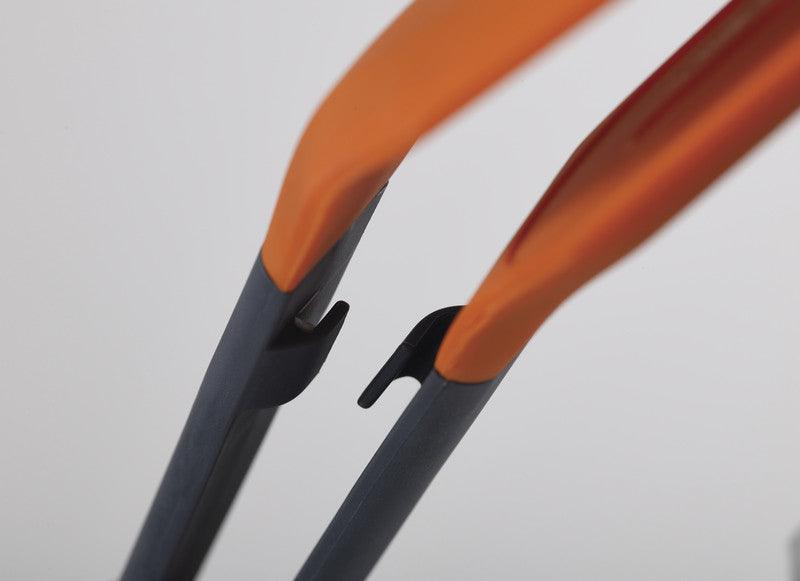 Joseph Joseph Grey & Orange Silicone Turner Tongs