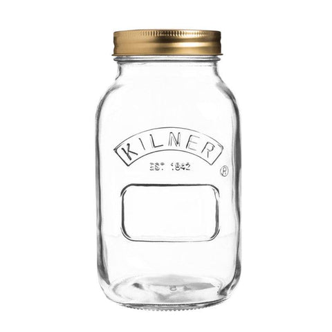 Kilner 1 Litre Glass Preserving Jar With Lid