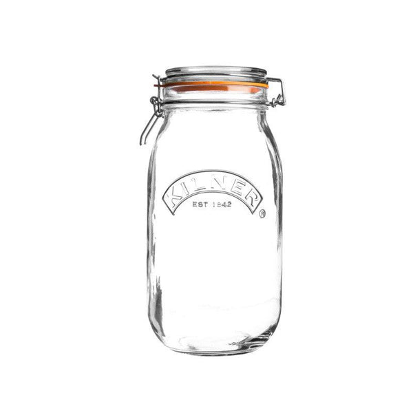 Kilner 2 Litre Round Glass Clip Top Storage Jar