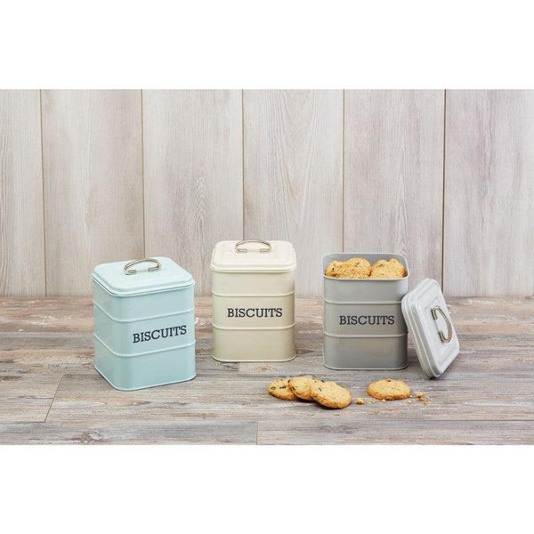 Living Nostalgia Biscuit Tin - Cream