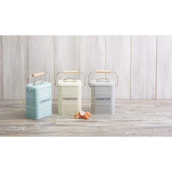 Living Nostalgia 3 Litre Compost Bin - Cream