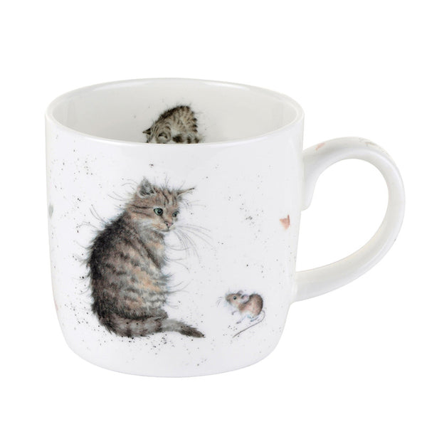 Royal Worcester Wrendale China Mug - Cat and Mouse