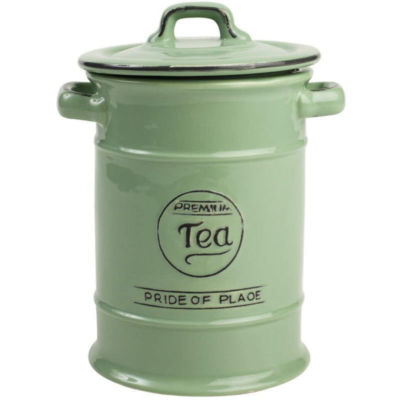 Pride of Place Vintage Tea Jar - Green