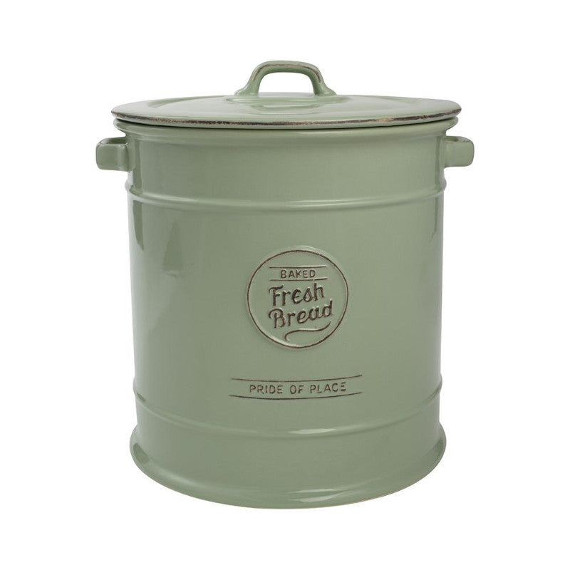 T&G Pride of Place Vintage Green Bread Crock