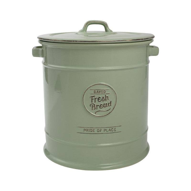 Pride of Place Vintage Bread Crock - Green
