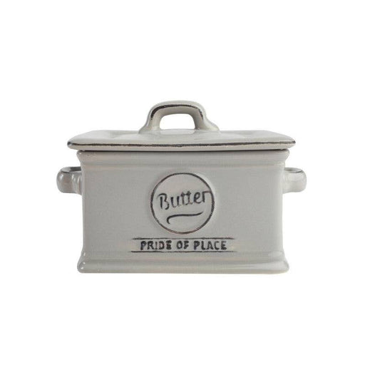 Pride of Place Vintage Butter Dish - Grey
