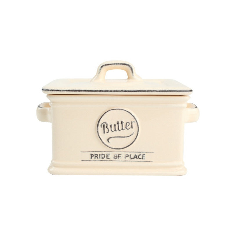 Pride of Place Vintage Butter Dish - Cream