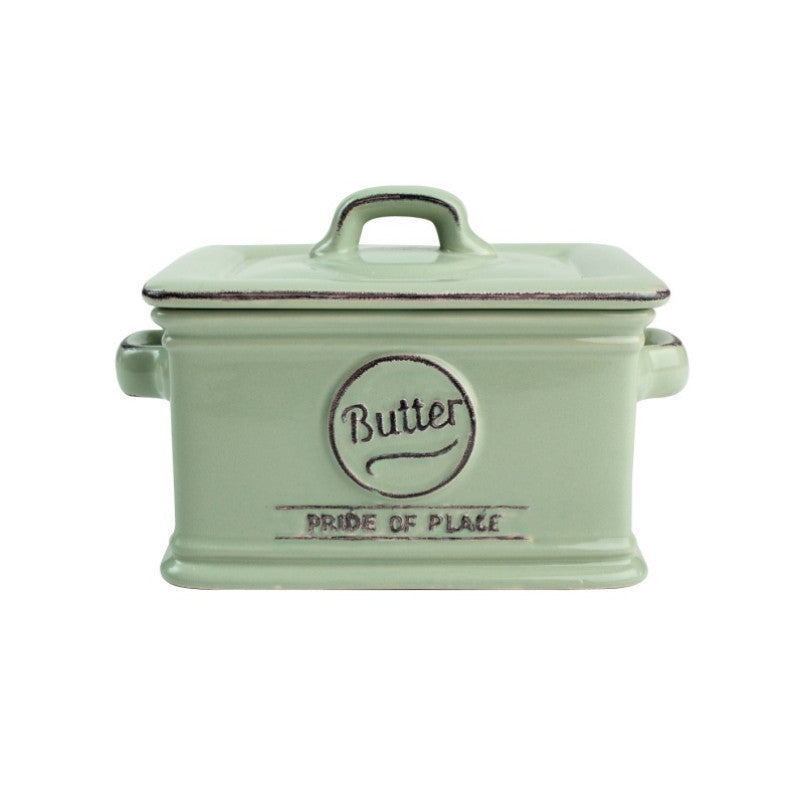 Pride of Place Vintage Butter Dish - Green