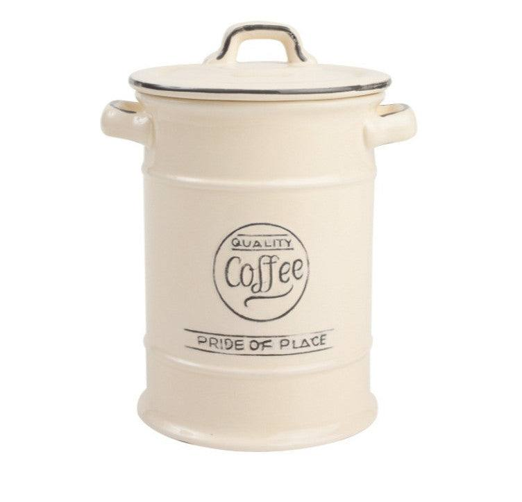 T&G Pride of Place Vintage Cream Coffee Jar
