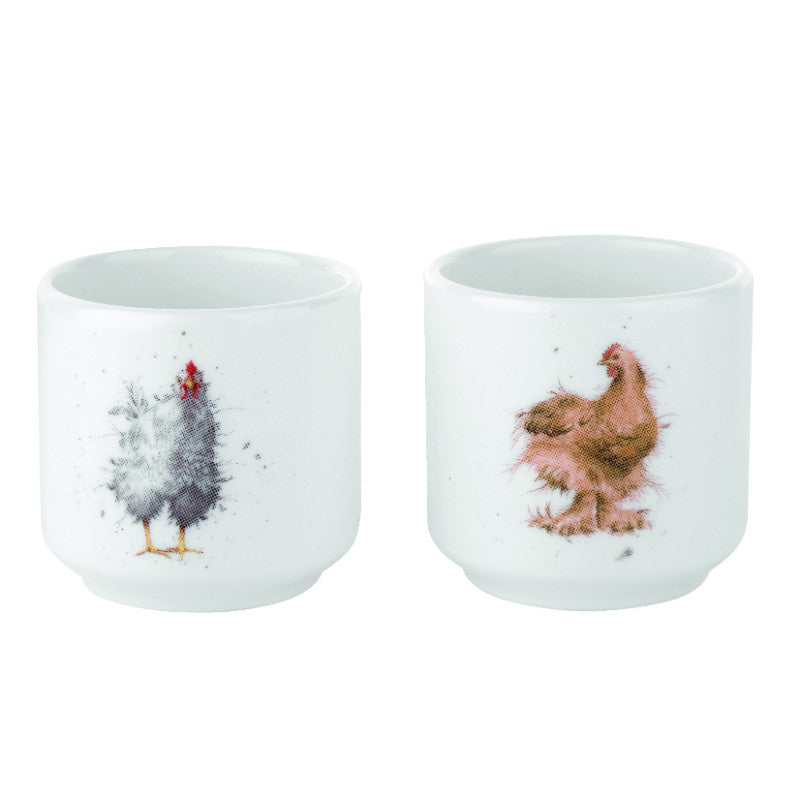 Royal Worcester Wrendale Egg Cups - Set of 2
