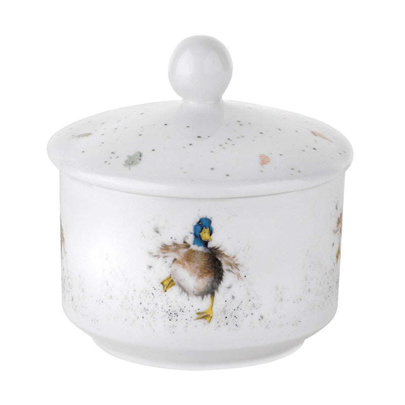 Royal Worcester Wrendale Duck Illustrated Sugar Bowl
