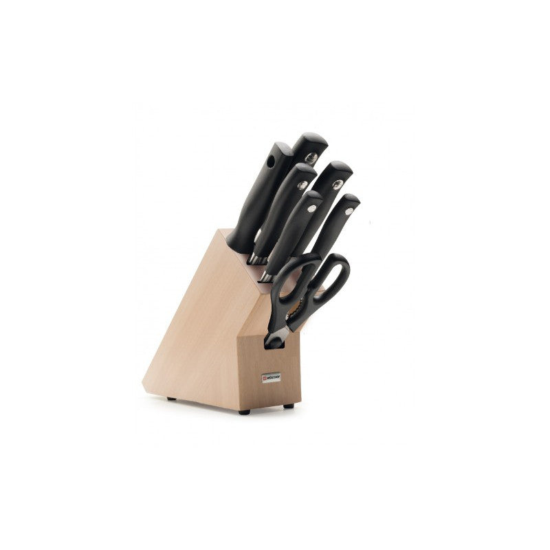 Wusthof Grand Prix II 7 Piece Beech Wood Knife Block Set