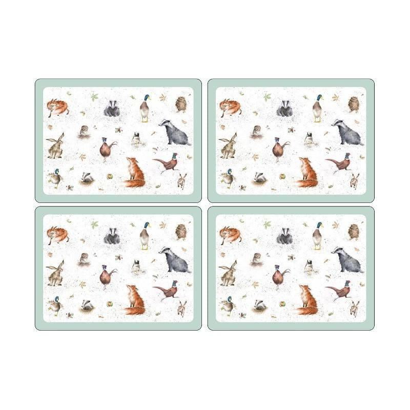 Wrendale Designs Animals Placemats - Set of 4