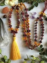 The Noble and Royal Yellow Long Style Supremely Bohemian Macrame Necklace