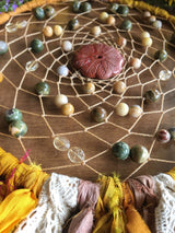 The Gypsy Heart Dreamcatcher...Featuring Crazy Lace, Rainforest Jasper, Moonstone, and Citrine Beads