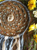 The Cirrculating Good Energy Dreamcatcher...Featuring Bloodstone & Quartz Geode
