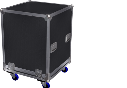 Large lift off lid, foam lined case W670xD670xH795mm. Ref 6986.