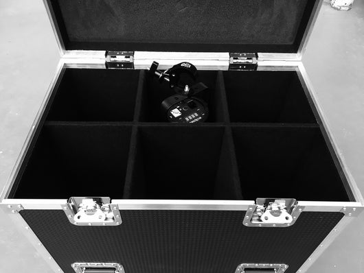 Six compartment lighting cases