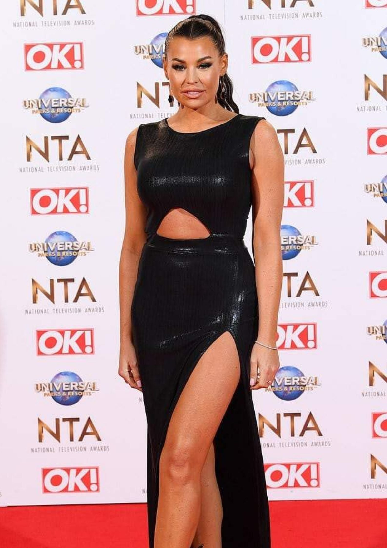 Jess Wright in Sarvin Moss dress on NTAS