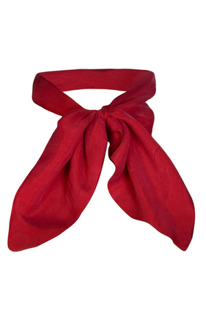 CLEO – Red vegan neck scarf