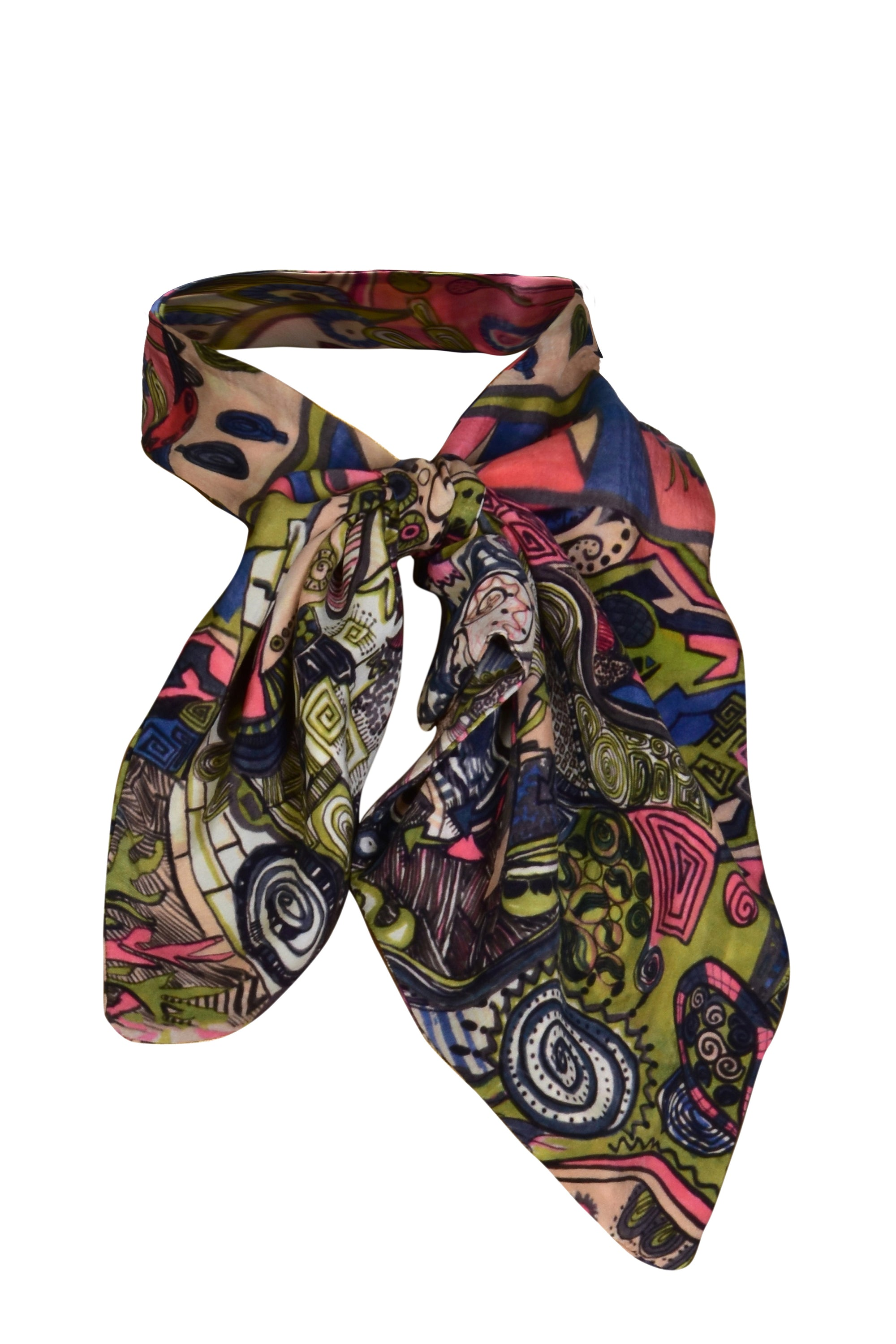 MINU – Hand Painted Persian Print Neck Scarf