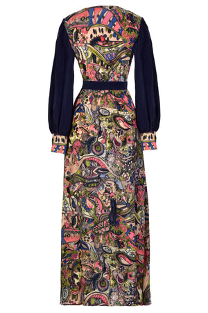 LARICA - Hand painted print Maxi dress