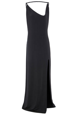 Sarvin ESSENTIALS - Emrata - Twisted Strap Maxi Dress with Side Slit
