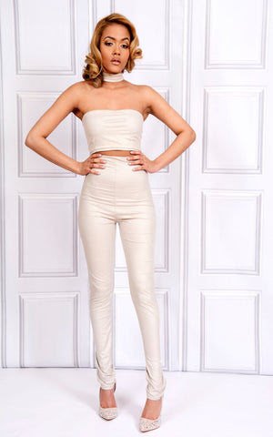 Sarvin OUTLET - Kate - High Waist Skinny Leatherette Trousers