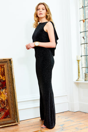 Sarvin ESSENTIALS - Marilyn - Cowl Back Floor Length Gown