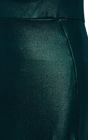 JADE - Metallic Green Cut-Out Bodycon Maxi Dress