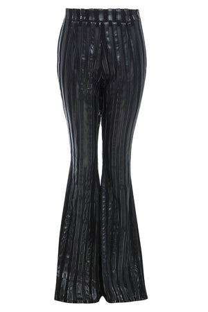 SLY - High waist stripe flared trousers