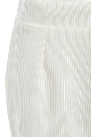 CALLIE - High waisted stripe flared trousers