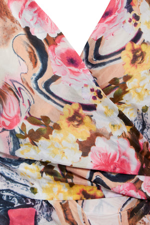 Detail shot of floral print