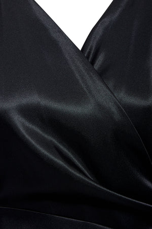 Detail view of our wrap maxi dress