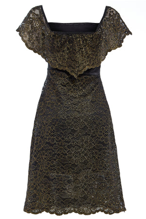 Sarvin OUTLET - Olivia - Embroidered Lace Off Shoulder A-line Dress