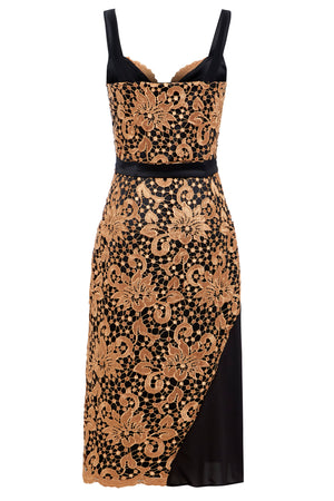 Sarvin OUTLET - Hope - Guipure Lace and Mesh Midi Dress