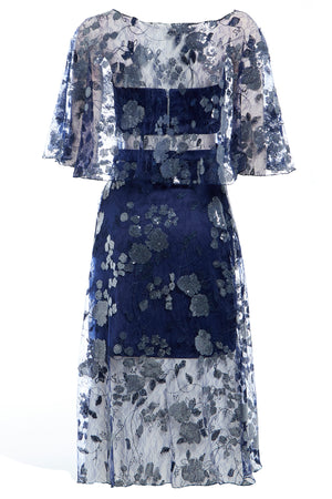 DOUTZEN - Embroidered lace co-ord midi dress