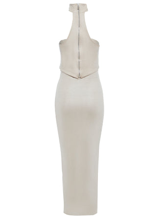KATE - Leatherette Bodycon Midi Skirt