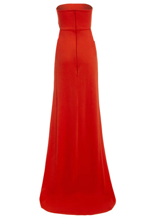 MARGOT - Bandeau Cut-Out Maxi Dress with Train