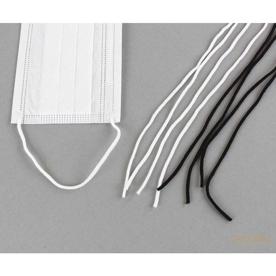3mm Elastic Band Mask Strap White Making Ear Loop Cord Tie
