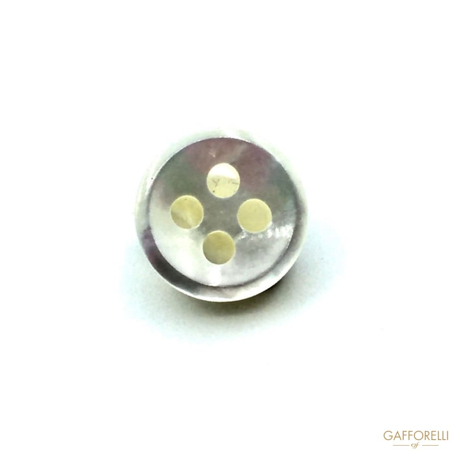 4 Holes Mother of Pearl Round Buttons - 993 Gafforelli Srl