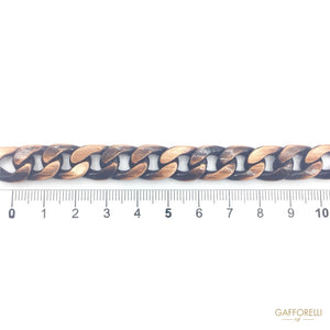 Anodized Brushed Old Color Chain - 2801 GAFFORELLI SRL