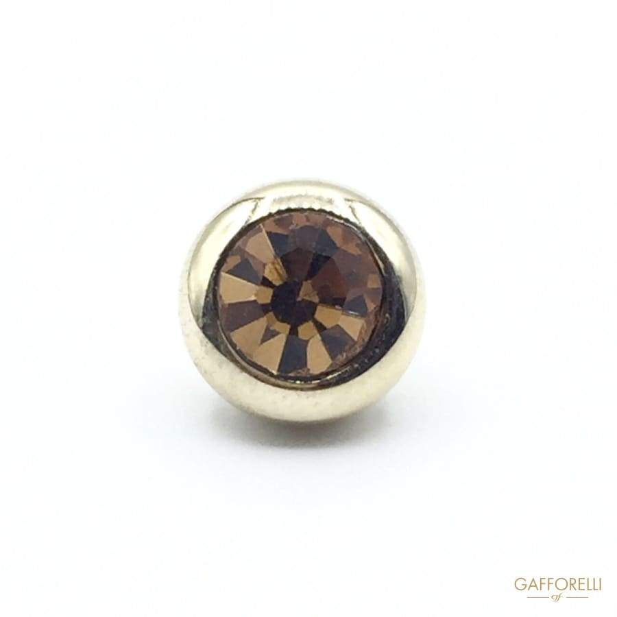 Brass Buttons with Central Rhinestone - 5384 Gafforelli Srl