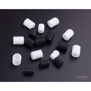 Cord Locks for Mask Elastic Band Mm10x8 White & Black Color