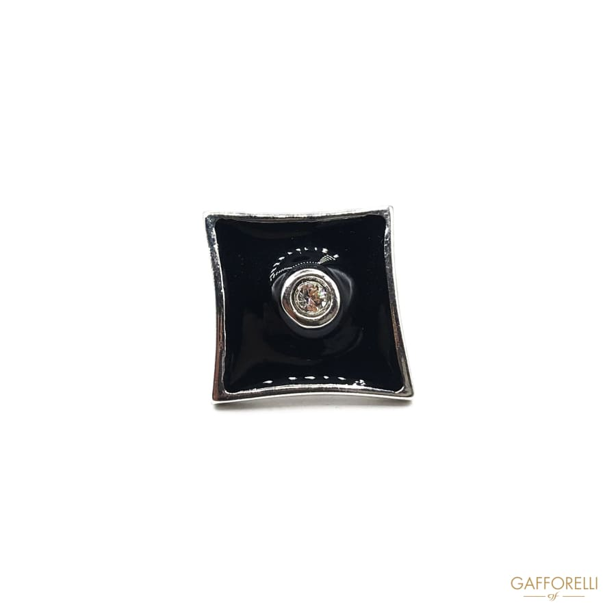 Diamonds Shape Cufflink with Rhinestone -u458 Gafforelli Srl