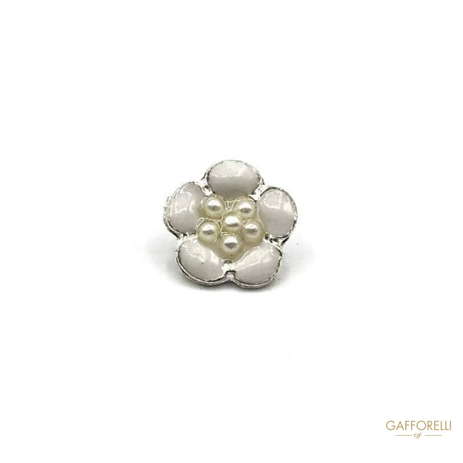 Flower Button with Central Small Pearls - Art. A188 shirt