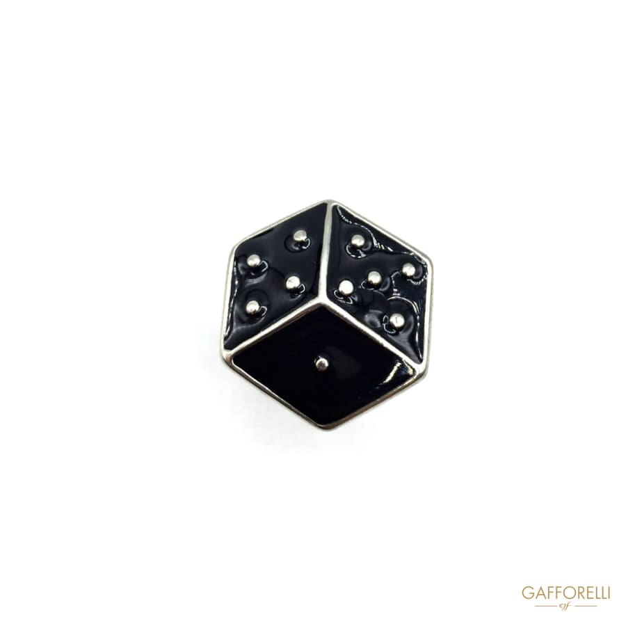 Geometric Metal Cufflink with Enameled Surface - Art. 275 U