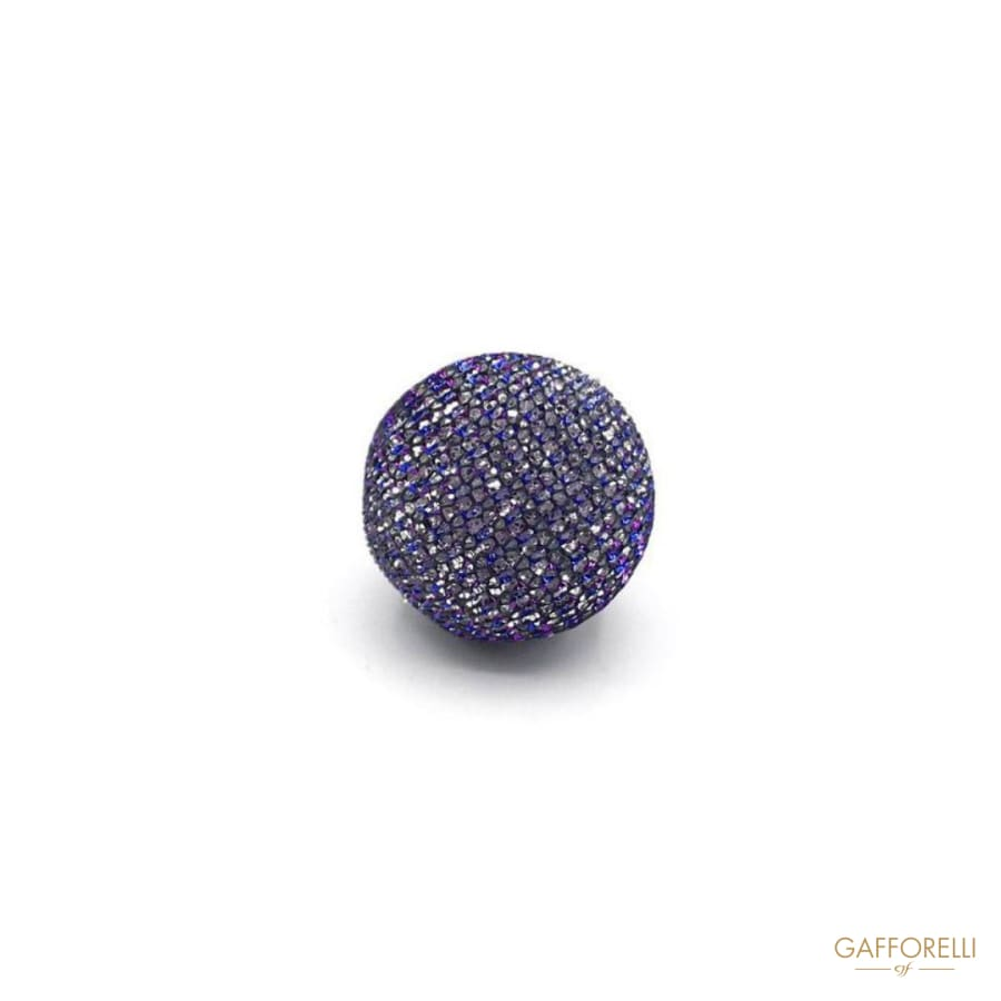 Glitter Fabric Button - Art. H137 polyester